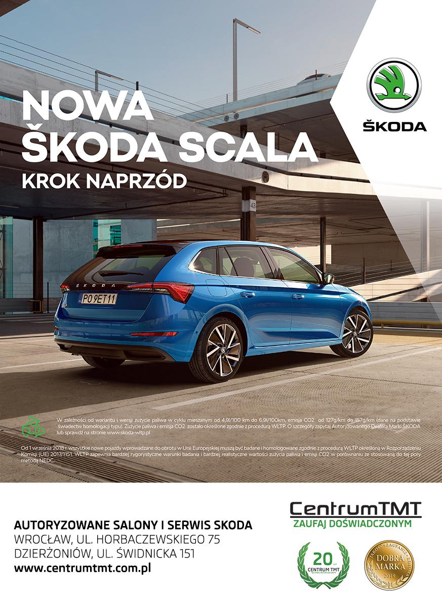 Nowa Skoda Scala w Centrum TMT